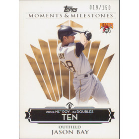 2008 Topps Moments & Milestones - Jason Bay #48 Ten 19/150