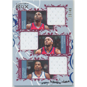 2006-07 Luxury Box -  Elton Brand/Corey Maggette/Cuttino Mobley Courtside Relics Triple Blue #CTR-BMM 23/49
