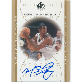 2000-01 SP Authentic - Michael Finley Sign of the Times #MF