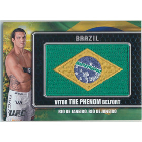 2011 Topps UFC Title Shot - Vitor Belfort Country Flag Patches #CP-VB