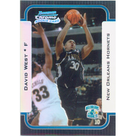 2003-04 Bowman Chrome - David West Refractor #120 182/300