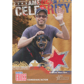 2009 Topps American Heritage - David Cross American Celebrity Relics #ACR-DC