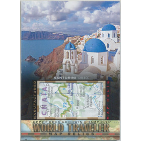 2017 Goodwin Champions - Santorini, Greece World Traveler Maps #WT-37