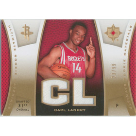 2007-08 Ultimate Collection - Carl Landry Materials Rookies Gold #ULTR-CL 23/99