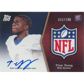 2011 Topps Rising Rookies - Titus Young NFL Shield Autographs #SRA-TY 33/100
