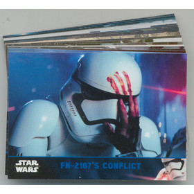 2016 Star Wars The Force Awakens: Lightsaber Blue 21-card Lot