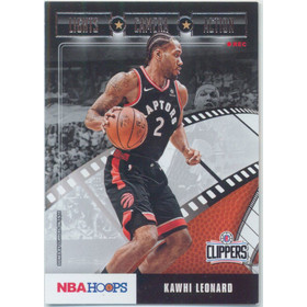 2019-20 Hoops - Kawhi Leonard Lights Camera Action #17
