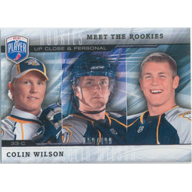 2009-10 BE A PLAYER - COLIN WILSON #MR7 MEET THE ROOKIES 150/499