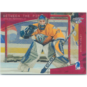 2003-04 BETWEEN THE PIPES - BRIAN FINLEY #106 RUBY 184/200