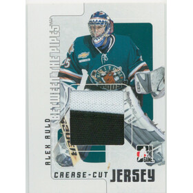 2007-08 BETWEEN THE PIPES - ALEX AULD #CCJ-58 CREASE-CUT JERSEY /90