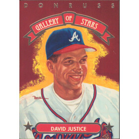 1992 Donruss - David Justice Gallery of Stars #GS-9