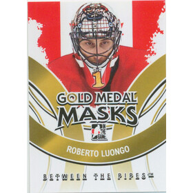 2009-10 BETWEEN THE PIPES - ROBERTO LUONGO #GMM-07 GOLD MEDAL MASKS