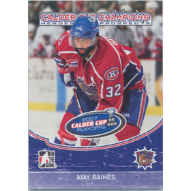 2007-08 HEROES AND PROSPECTS - AJAY BAINES #CC-07 CALDER CUP CHAMPIONS