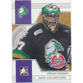 2005-06 HEROES AND PROSPECTS - GERALD COLEMAN #MC-08 MEMORIAL CUP