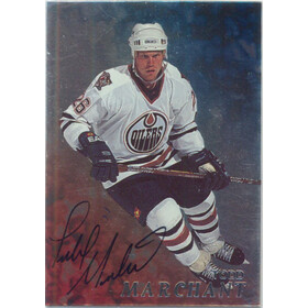 1998-99 BE A PLAYER - TODD MARCHANT #55 AUTOGRAPHS