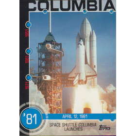 2015 Topps - Space Shuttle Columbia Launches Baseball History #12A