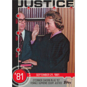 2015 Topps - O'Connor Sworn in as 1st Female Supreme Court Justice Baseball History #13A