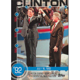 2015 Topps - Clinton Earns Democratic Nomination Baseball History #15A