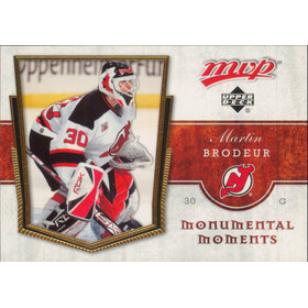 2007-08 MVP - MARTIN BRODEUR #MM4 MONUMENTAL MOMENTS