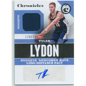2017-18 Chronicles - Tyler Lydon Signature Swatches #CSS-TLY 179/199