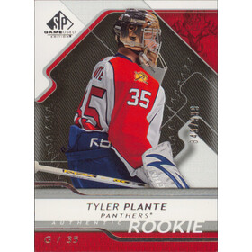 2008-09 SP GAME USED - TYLER PLANTE #190 ROOKIE 849/999
