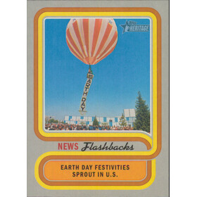 2019 Topps Heritage - Earth Day Celebration News Flashbacks #NF-3