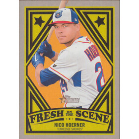 2019 Topps Heritage Minor League - Nico Hoerner Fresh on the Scene #FOS-18