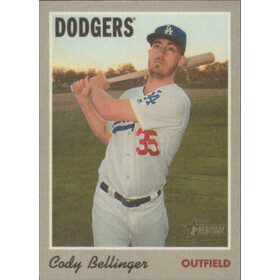 2019 Topps Heritage - Cody Bellinger 1970 Cloth Sticker #24