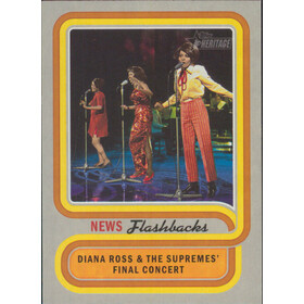 2019 Topps Heritage - Diana Ross & the Supremes Final Concert News Flashbacks #NF-15