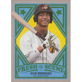2019 Topps Heritage Minor League - Julio Rodriguez Fresh on the Scene #FOS-19