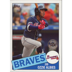 2020 Topps - Ozzie Albies 1985 Topps 35th Anniversary #85-11