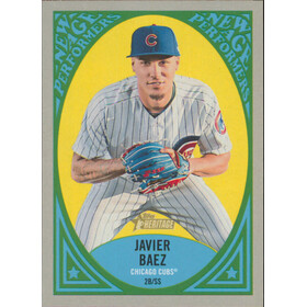 2019 Topps Heritage - Javier Baez New Age Performers #NAP-21
