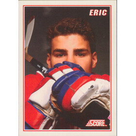 1990-91 SCORE - ERIC LINDROS #4 LINDROS INSERT