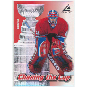 1997-98 ZENITH - JOCELYN THIBAULT #9 CHASING THE CUP
