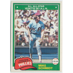 1981 O-Pee-Chee - Mike Schmidt All-Star #207