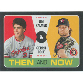 2020 Topps Heritage - Jim Palmer/Gerrit Cole Then and Now #TN-4