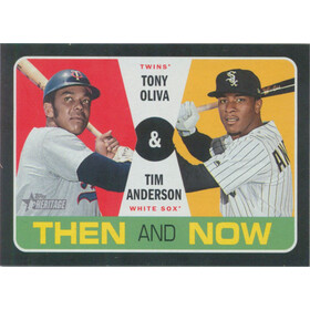 2020 Topps Heritage - Tony Oliva/Tim Anderson Then and Now #TN-10