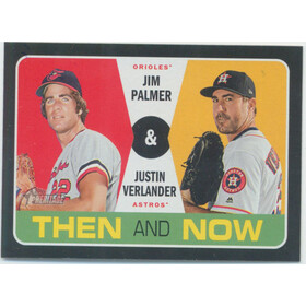 2020 Topps Heritage - Jim Palmer/Justin Verlander Then and Now #TN-13