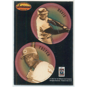 1993 Ted Williams - Tommy Davis/George Foster Pogs #25
