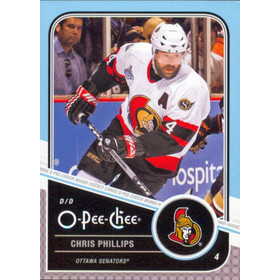 2011-12 O-PEE-CHEE - CHRIS PHILLIPS #11 PLAYOFF BEARD VARIATIONS
