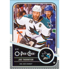 2011-12 O-PEE-CHEE - JOE THORNTON #16 PLAYOFF BEARD VARIATIONS