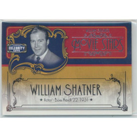 2008 Americana - William Shatner Celebrity Cuts Hollywood Icons #MS-WS 114/200