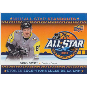 2018-19 TIM HORTONS - SIDNEY CROSBY #AS-2 ALL-STAR STANDOUTS CL