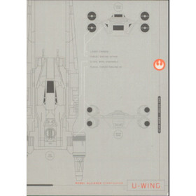 2016 Star Wars Rogue One - U-Wing Blueprints of Ships and Vehicles #BP1