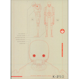 2016 Star Wars Rogue One - K-2SO Blueprints of Ships and Vehicles #BP2