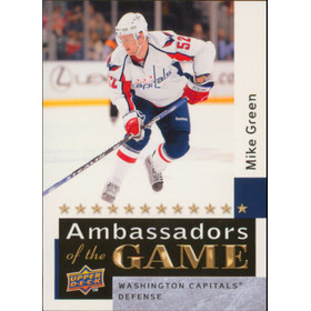 2009-10 UPPER DECK - MIKE GREEN #AG50 AMBASSADORS OF THE GAME