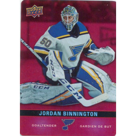 2019-20 TIM HORTONS - JORDAN BINNINGTON #DC-4 RED DIE CUTS