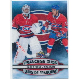 2019-20 TIM HORTONS - CAREY PRICE/MAX DOMI #D-3 FRANCHISE DUOS