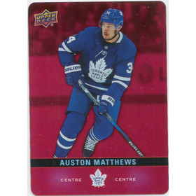 2019-20 TIM HORTONS - AUSTON MATTHEWS #DC-15 RED DIE CUTS