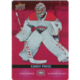 2019-20 TIM HORTONS - CAREY PRICE #DC-14 RED DIE CUTS